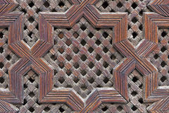Traditional Moroccan carved wood panel Stock Photo