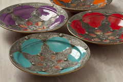 Traditional Moroccan decorated bowls Royalty Free Stock Photography