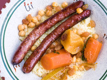 Traditional moroccan dish couscous Stock Photos