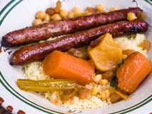 Traditional moroccan dish couscous Royalty Free Stock Photography