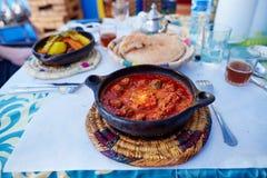 Traditional Moroccan dish kefta tajine Stock Image