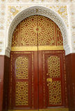 Traditional moroccan door Royalty Free Stock Photos