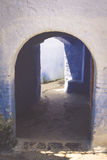 Traditional moroccan door detail in Chefchaouen, Morocco, Africa Stock Photo