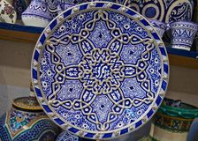 Traditional Moroccan embellished plate Stock Image