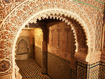 Traditional Moroccan entrance Stock Photography