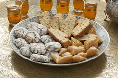 Traditional Moroccan homemade cookies Stock Image