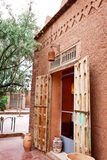 Traditional Moroccan house. Traditional architecture Moroccan house of mud Royalty Free Stock Image