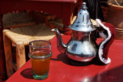 Traditional Moroccan mint tea. Royalty Free Stock Photos