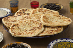 Traditional Moroccan pancakes for breakfast breakfast Stock Image