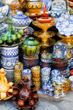 Traditional moroccan pottery. At Safi Stock Photos
