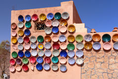 Traditional Moroccan Pottery on the Market Royalty Free Stock Images