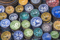 Traditional moroccan pottery Royalty Free Stock Photos