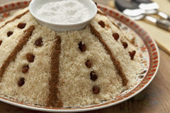 Traditional Moroccan sweet couscous Royalty Free Stock Images