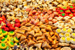 Traditional moroccan sweets. On sale at Marrakesh market Stock Photography