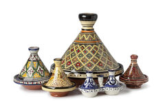 Traditional Moroccan tagines royalty free stock photos