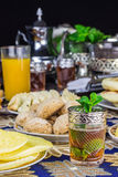 Traditional Moroccan tea service Royalty Free Stock Photography