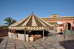 Traditional Moroccan tent Stock Images