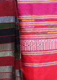 Traditional Moroccan textiles Stock Image