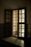 Traditional Moroccan window Royalty Free Stock Image