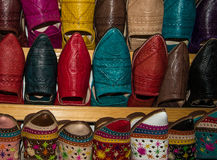 Traditional morrocan shoes Stock Image