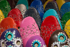 Traditional morrocan shoes Royalty Free Stock Image