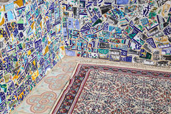 Traditional mosaic and carpet in Tunis Stock Images
