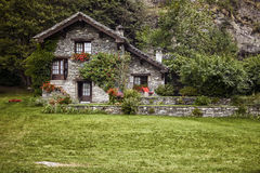 Traditional mountain house Royalty Free Stock Photography