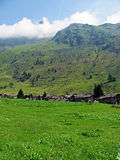 Traditional Mountain Village - Italian Alps Royalty Free Stock Photo