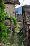 Traditional mountain village in the Italian Alps Royalty Free Stock Photo