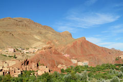 Traditional mountain village in Morocco Royalty Free Stock Photography