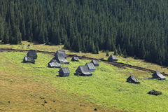 Traditional mountain village in Transylvania Stock Photo