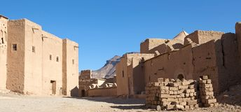 Traditional mud berber houses Royalty Free Stock Photo