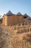 Traditional mud an clay housing of the Tata Somba tribe of nothern Benin and Togo, Africa Royalty Free Stock Photography