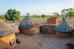 Traditional mud an clay housing of the Tata Somba tribe of nothern Benin and Togo, Africa Stock Photography
