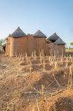 Traditional mud an clay housing of the Tata Somba tribe of nothern Benin and Togo, Africa Stock Photos