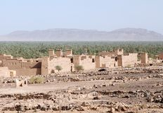 Traditional mud houses berber village Stock Photos