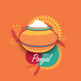 Traditional mud pot for Pongal celebration. Royalty Free Stock Image