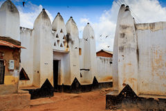 Traditional mud and stick houses. In Wa, Ghana Royalty Free Stock Images