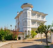 Traditional multi stories white wooden house, Princess Island Buyukada, Istanbul, Turkey. On a sunny spring day Stock Images