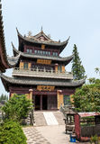 Traditional multilevel Chinese monastery Stock Images