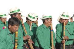 Traditional music band in Bolivia Royalty Free Stock Photography