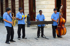 Traditional music group playing in Old Havana Royalty Free Stock Photography