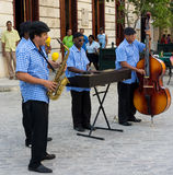 Traditional music group playing in Old Havana Stock Image