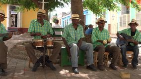 Traditional Music Musicians in Trinidad, Cuba stock video footage