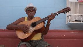 Traditional Music Musicians in Trinidad, Cuba stock footage