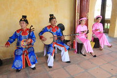 Traditional music performance event in Vietnam Royalty Free Stock Photos