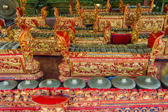 Traditional Musical Instruments, Bali, Indonesia. Traditional musical instruments at Ubud Palace, Bali, Indonesia Stock Image