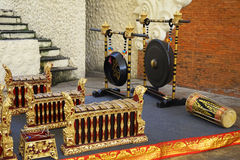 Traditional musical instruments , Bali, Indonesia. Royalty Free Stock Images