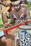 Traditional Musician of Papua Stock Photography