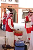 Traditional musician performs Bahrain Airshow 2012 Stock Images
